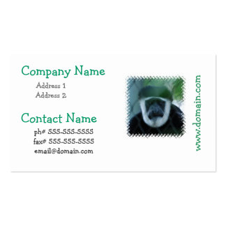 Colobus Monkey Business Cards