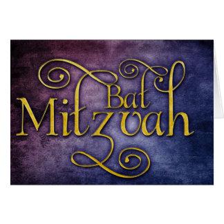 Coloful Bat Mitzvah design Card