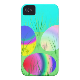 Coloful Easter eggs iPhone 4 Cases