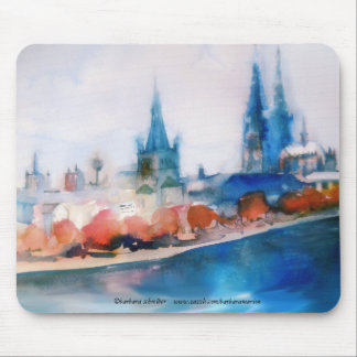 Cologne cathedral cologne cathedral watercolor ske mouse pad