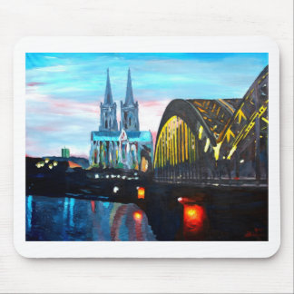 Cologne Cathedral with Hohenzollernbridge Mousepad