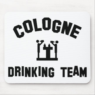 cologne drinking team mouse pad
