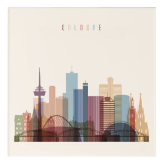 Cologne, Germany | City Skyline Acrylic Print