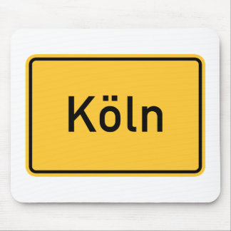 Cologne, Germany Road Sign Mouse Pads