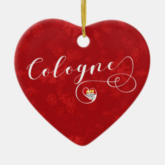 Cologne Heart, Christmas Tree Ornament, Germany Christmas Ornament