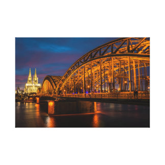 Cologne Hohenzollern Bridge Canvas Print