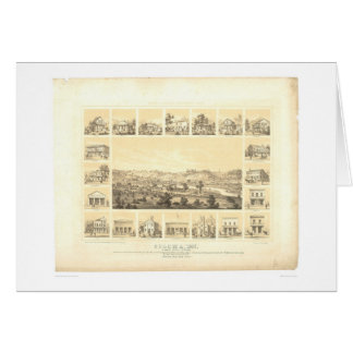 Coloma, CA. Panoramic Map 1857 (0423A) Greeting Card
