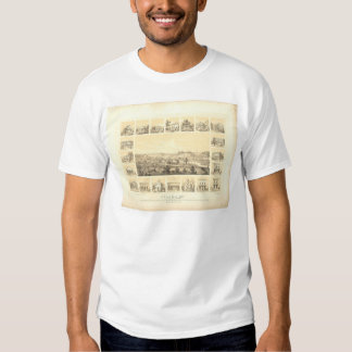 Coloma, CA. Panoramic Map 1857 (0423A) T-shirt
