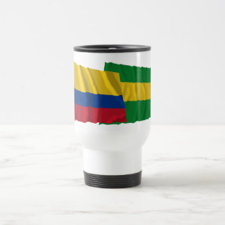 Colombia and Cauca Waving Flags Travel Mug