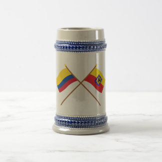 Colombia and Distrito Capital Crossed Flags Beer Steins