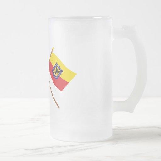 Colombia and Distrito Capital Crossed Flags Coffee Mug