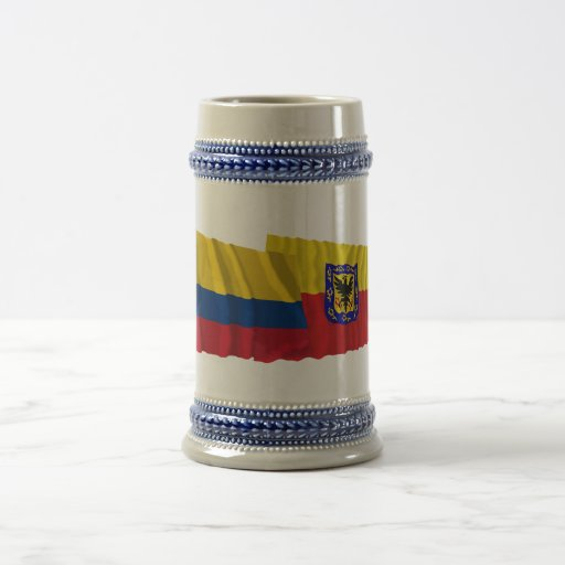 Colombia and Distrito Capital Waving Flags Mugs