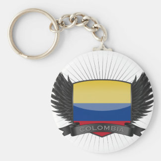 COLOMBIA BASIC ROUND BUTTON KEY RING
