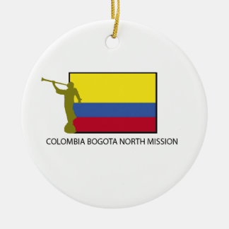 Colombia Bogota North Mission CTR LDS Round Ceramic Decoration