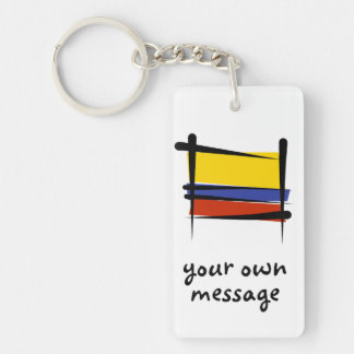 Colombia Brush Flag Key Ring