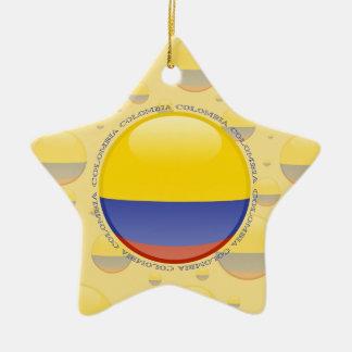 Colombia Bubble Flag Ceramic Star Decoration