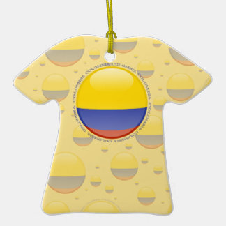 Colombia Bubble Flag Christmas Tree Ornament