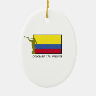 Colombia Cali Mission LDS CTR Ceramic Oval Decoration