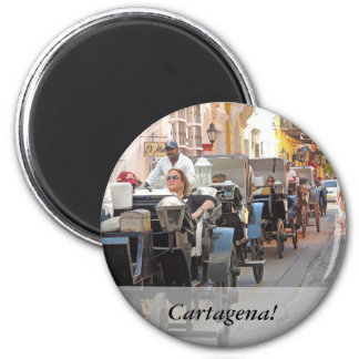 Colombia-Carriage Ride in Cartagena Customizable Magnet