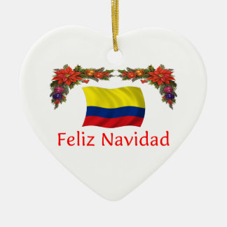 Colombia Christmas Ceramic Heart Decoration