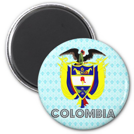Colombia Coat of Arms 6 Cm Round Magnet