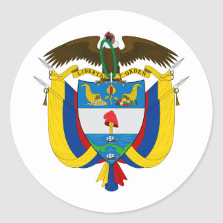 Colombia Coat of arms CO Classic Round Sticker