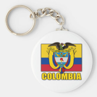 Colombia Coat of Arms Key Ring