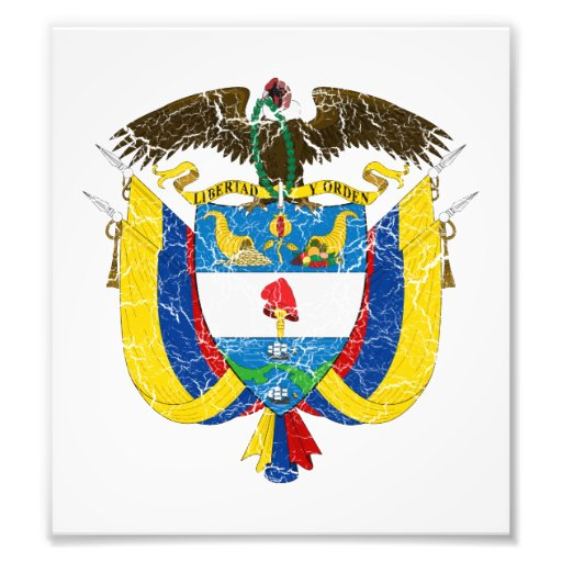 Colombia Coat Of Arms Photographic Print