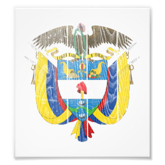 Colombia Coat Of Arms Art Photo