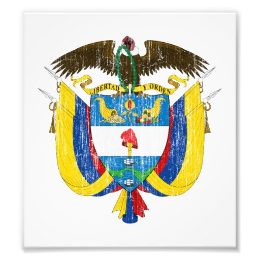 Colombia Coat Of Arms Photo Art