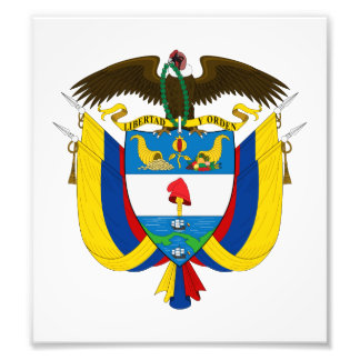 Colombia Coat Of Arms Photograph