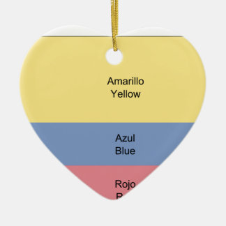 Colombia (Construction Sheet), Colombia Ceramic Heart Decoration