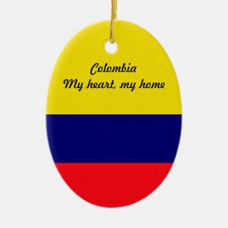 Colombia Ceramic Oval Decoration