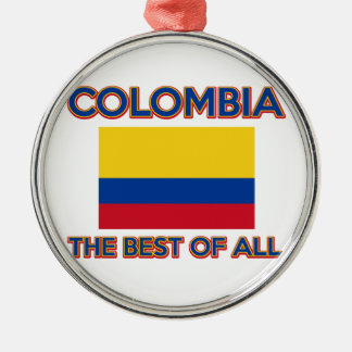 Colombia design Silver-Colored round decoration