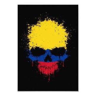 Colombia Dripping Splatter Skull 9 Cm X 13 Cm Invitation Card