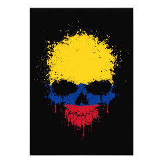 Colombia Dripping Splatter Skull Announcement
