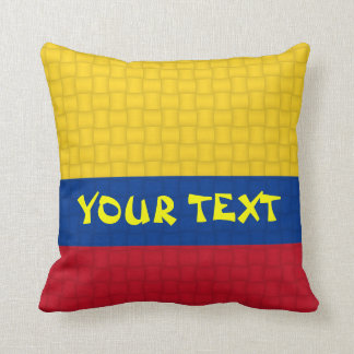 Colombia flag: ADD TEXT Cushion