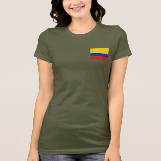 Colombia Flag and Map dk T-Shirt