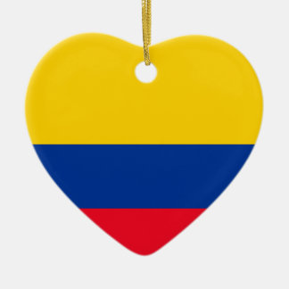 Colombia Flag Ceramic Heart Decoration