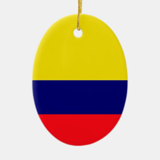 Colombia flag ceramic oval decoration