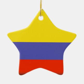 Colombia Flag Ceramic Star Decoration