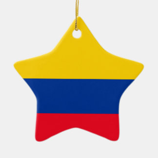 Colombia Flag Ceramic Star Decoration