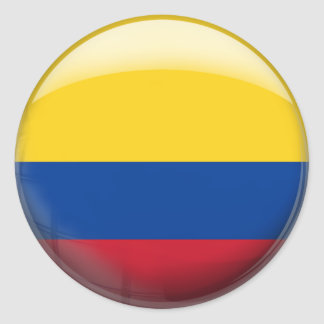 Colombia Flag Classic Round Sticker