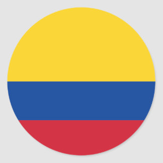 Colombia flag CO Classic Round Sticker