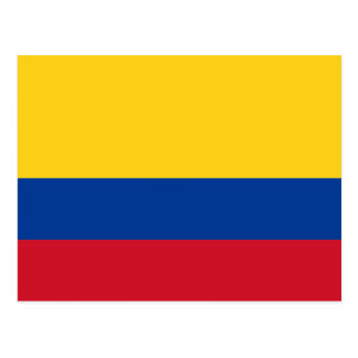 Colombia flag CO Postcard