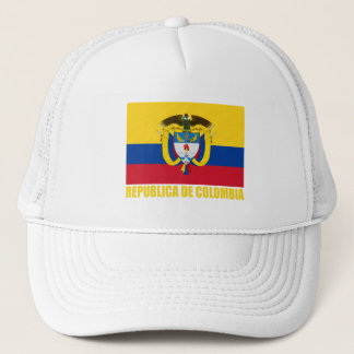 Colombia Flag & Coat of Arms Trucker Hat