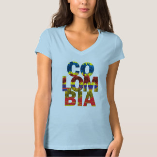 Colombia flag colors womens tshirts