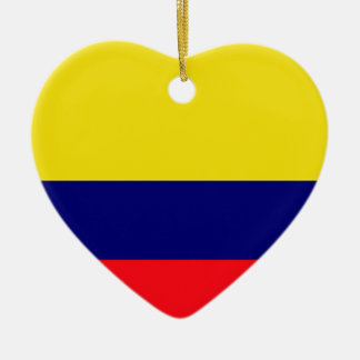 Colombia flag christmas ornaments