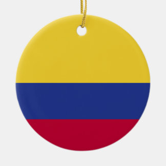 Colombia Flag Christmas Tree Ornament