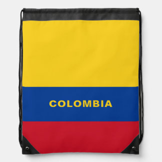 Colombia Flag Drawstring Backpack